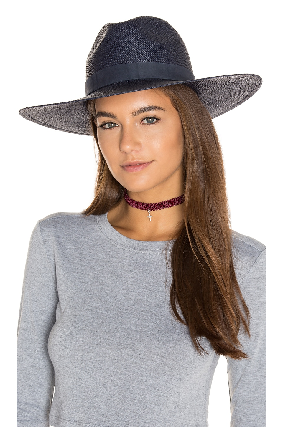 Chloe Wide Brimmed Panama Hat by Janessa Leone