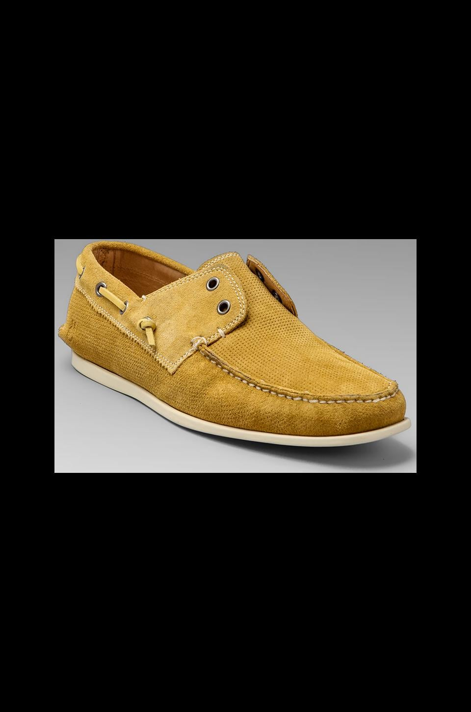 John Varvatos Star USA Schooner Boat Shoe in Scotch