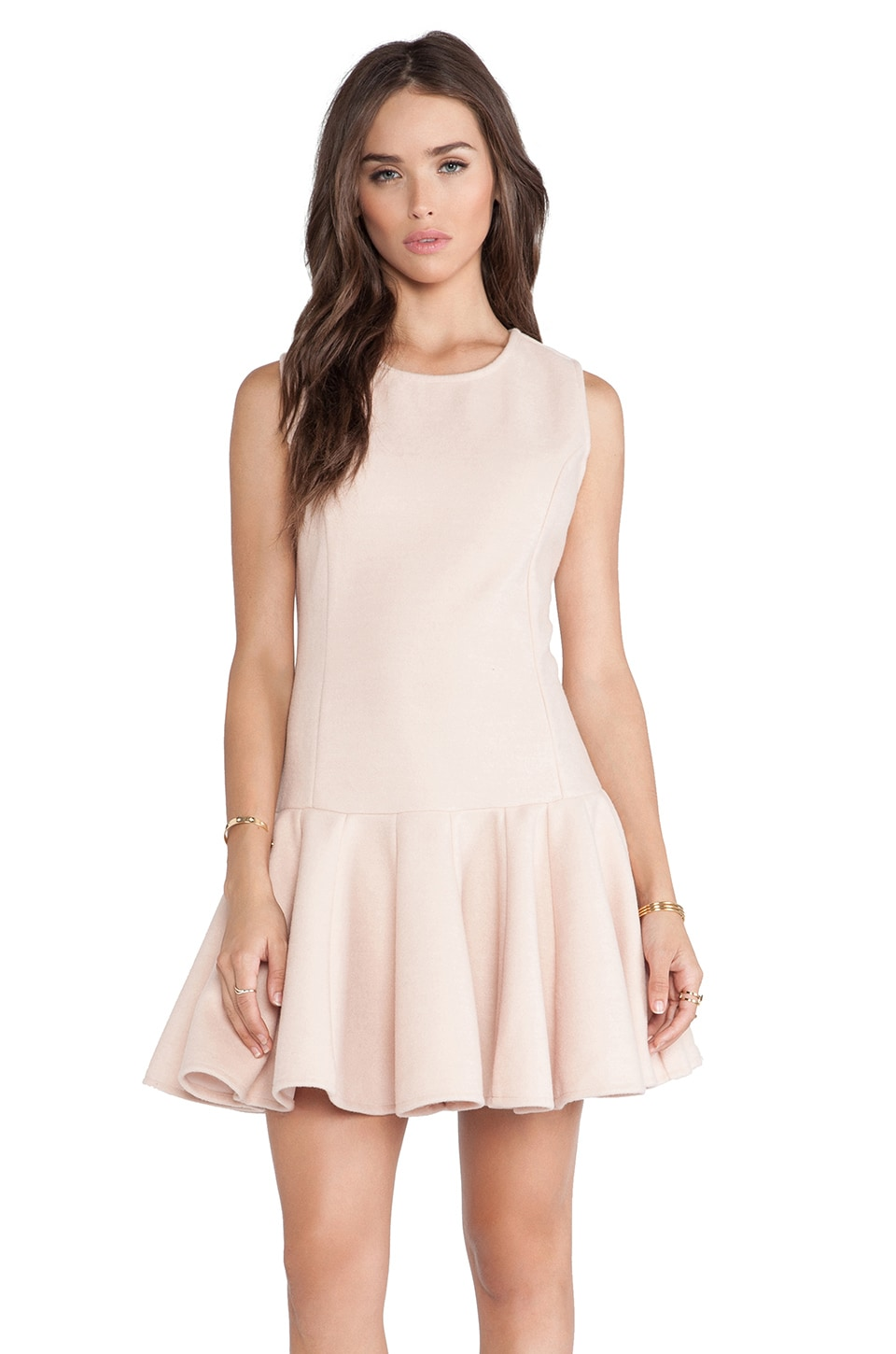 J.O.A. Neoprene Dress in Blush Pink