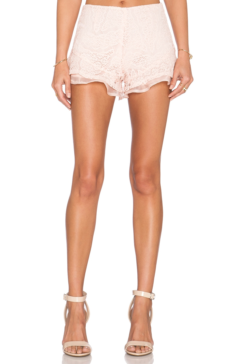 J.O.A. Lace Short in Blush Pink