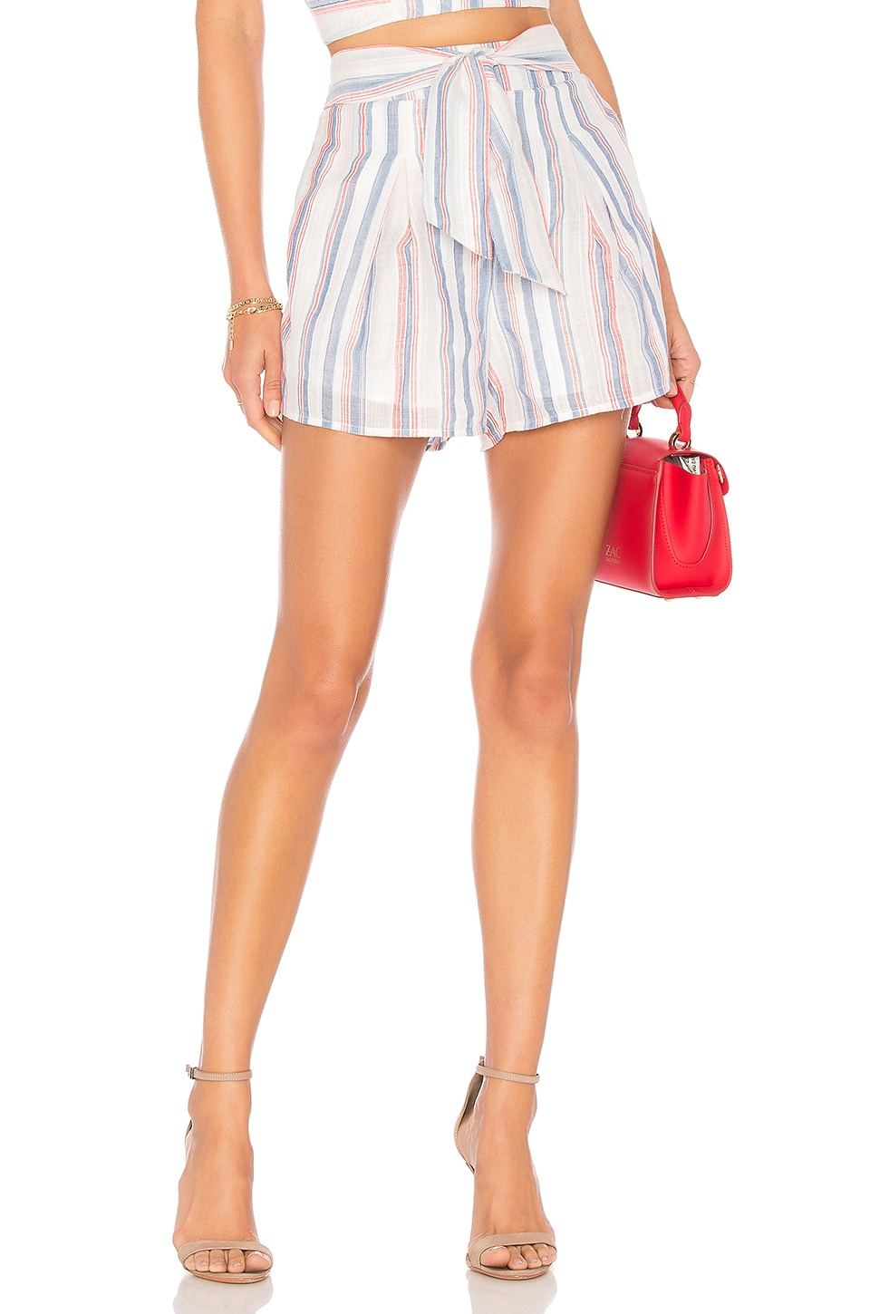 Pleated Tie Waist Short