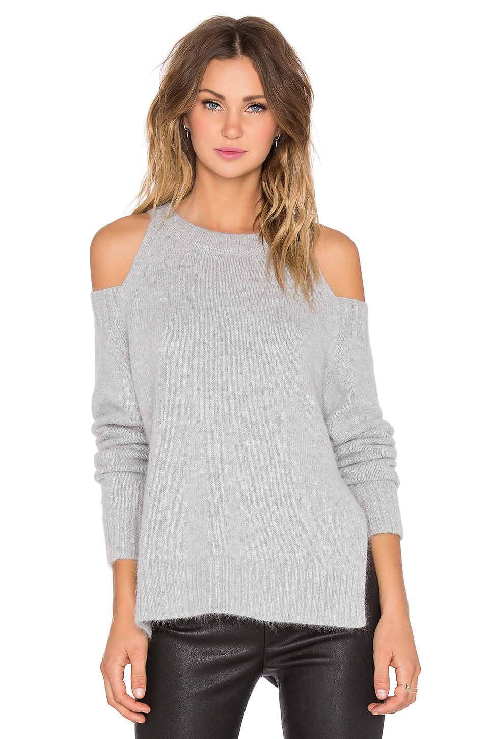 J.O.A. Shoulder Cut Out Sweater in Grey | REVOLVE