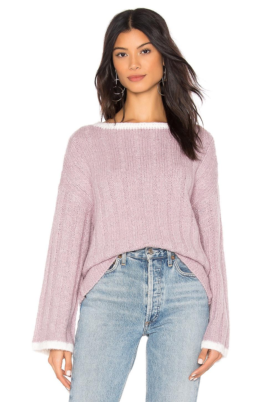 J.O.A. Boat Neck Sweater in Lavender