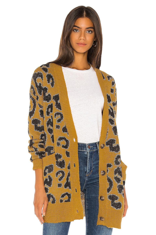 J.O.A. Leopard Cardigan in Leopard & Mustard