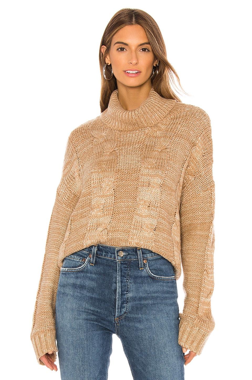 J.O.A. Turtleneck Sweater in Tan