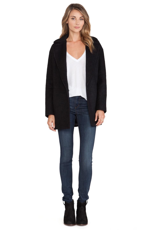 J.O.A. Oversized Coat in Black