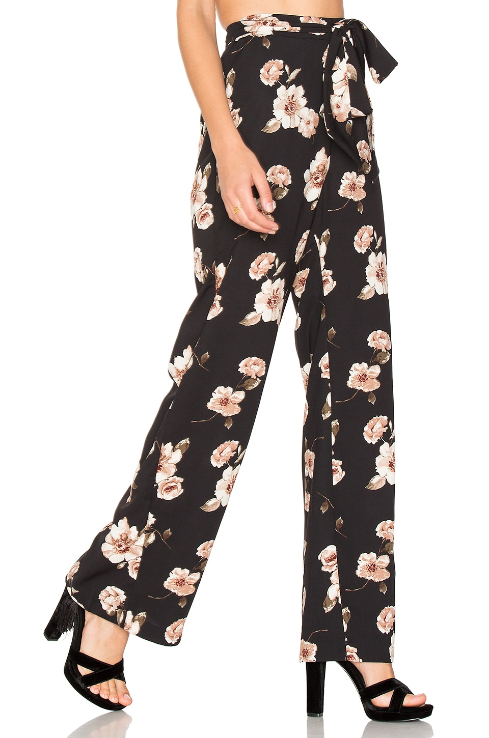 J.O.A. Print Pant in Black Multi