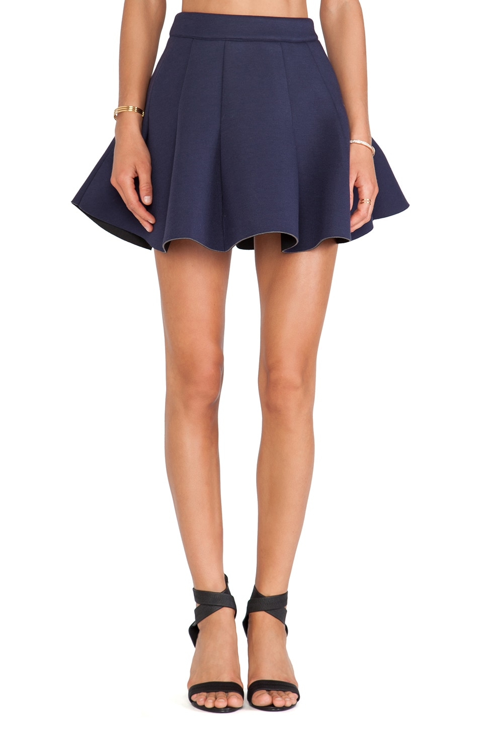 J.O.A. Neoprene Skirt in Navy