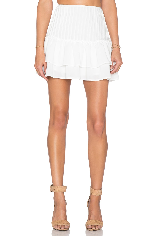 J.O.A. x REVOLVE Flouncy Mini Skirt in White