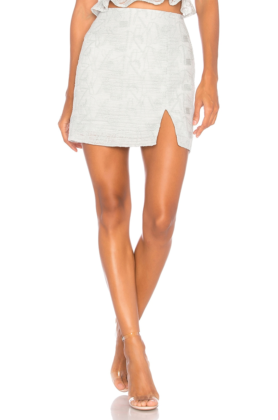 J.O.A. Lace Mini Skirt in Mint