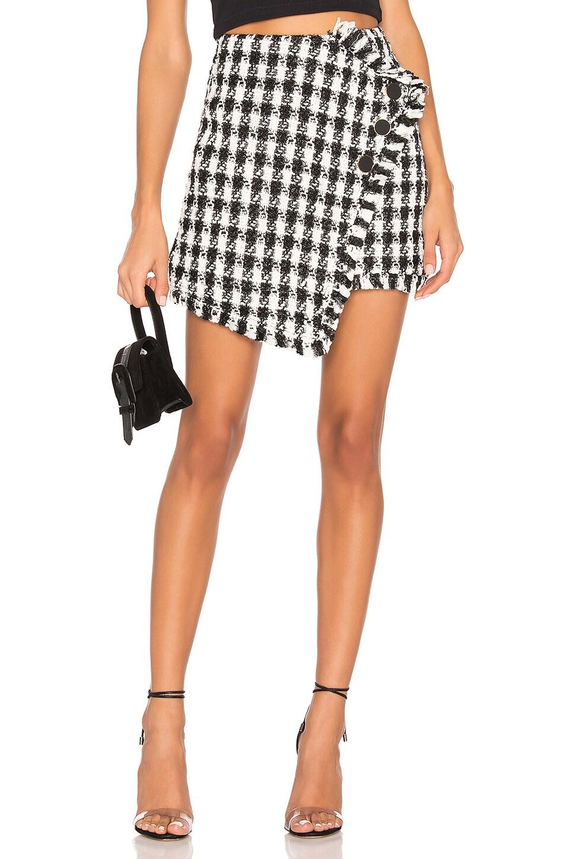 J.O.A. Tweed Mini Skirt in Black & White