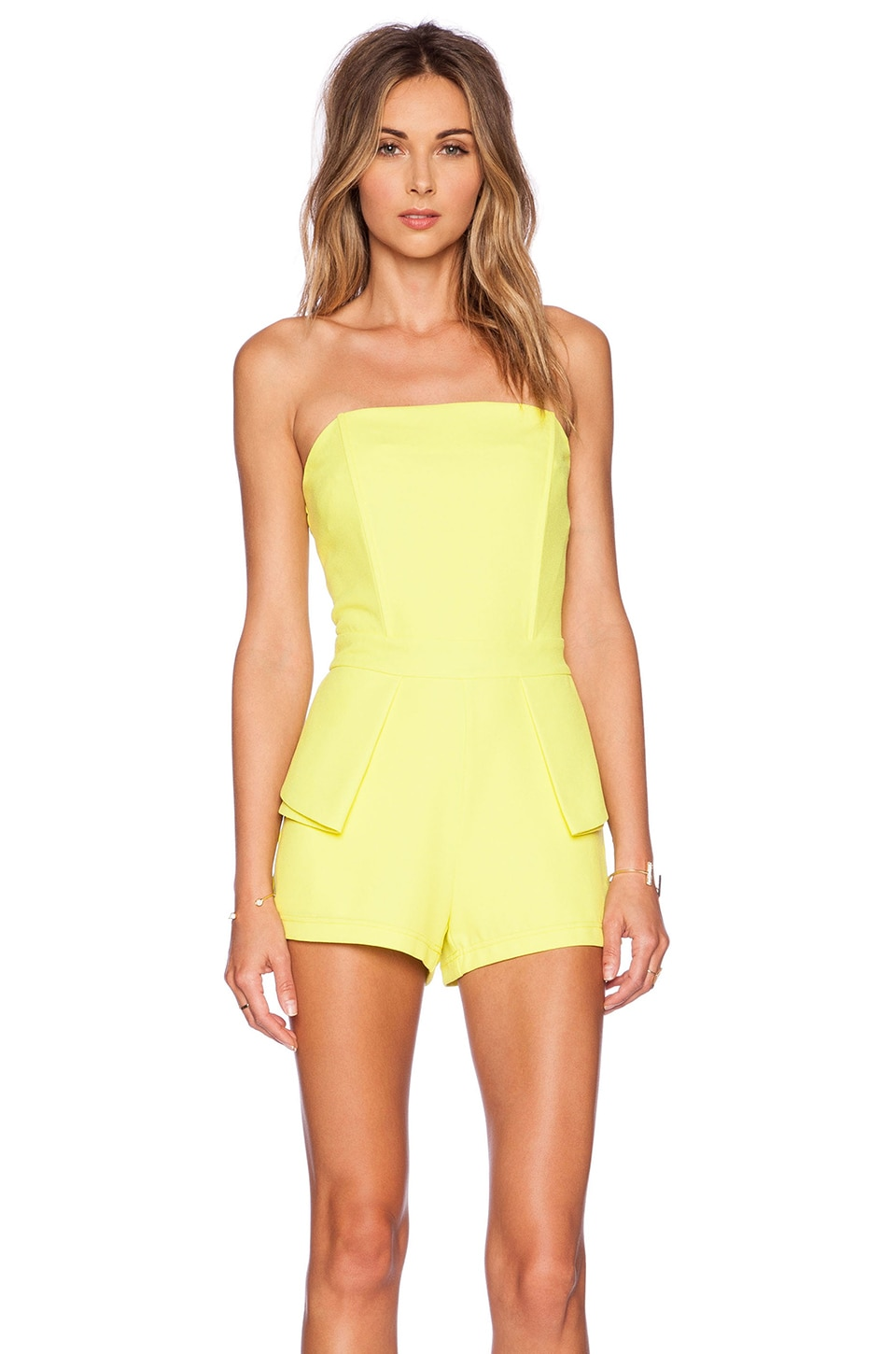 J.O.A. Romper in Lime