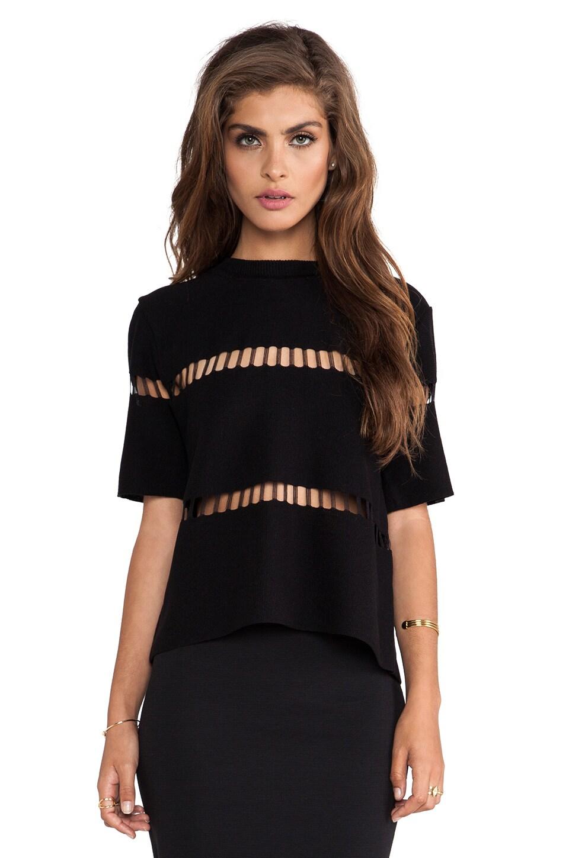 J.O.A. Knit Top in Black