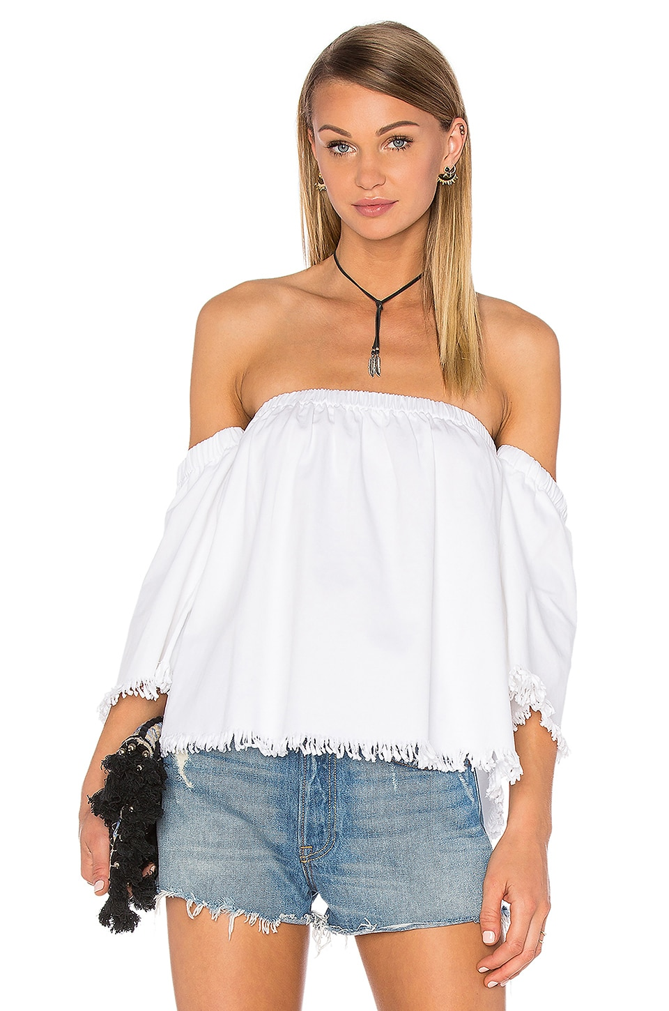 Off The Shoulder 3/4 Sleeve Top