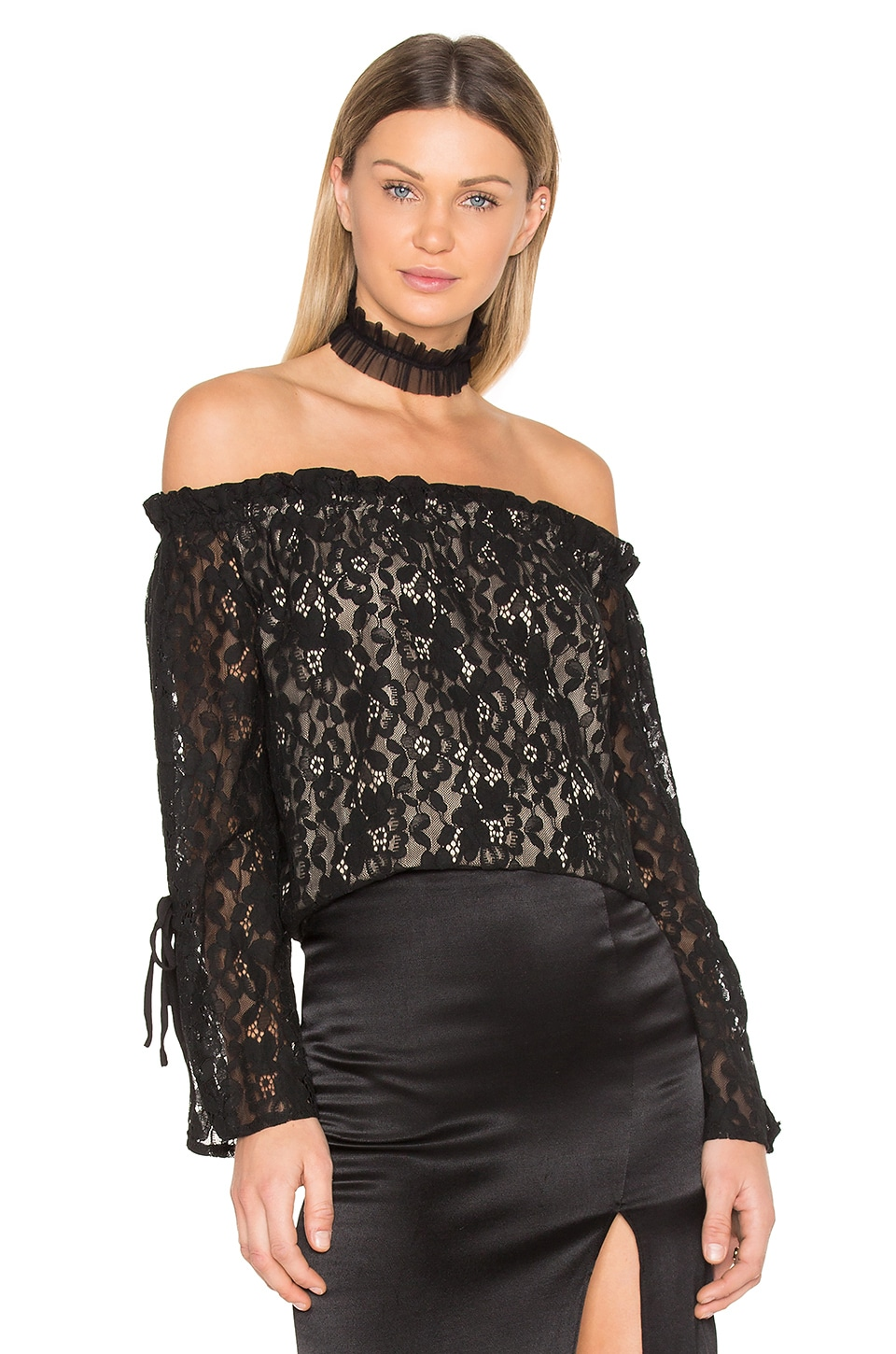 Lace Off the Shoulder Top by J.O.A.