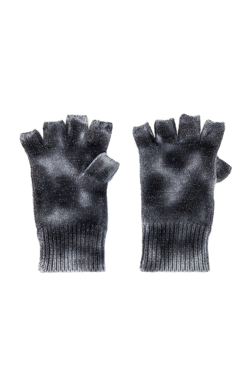 jocelyn Tie Dye Cashmere Mittens in Black & White
