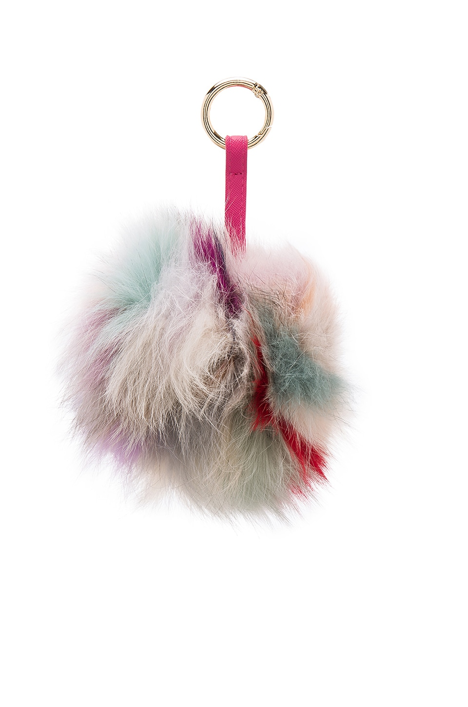 jocelyn Super Swirl Dyed Light Multi Fox Keychain in Multi