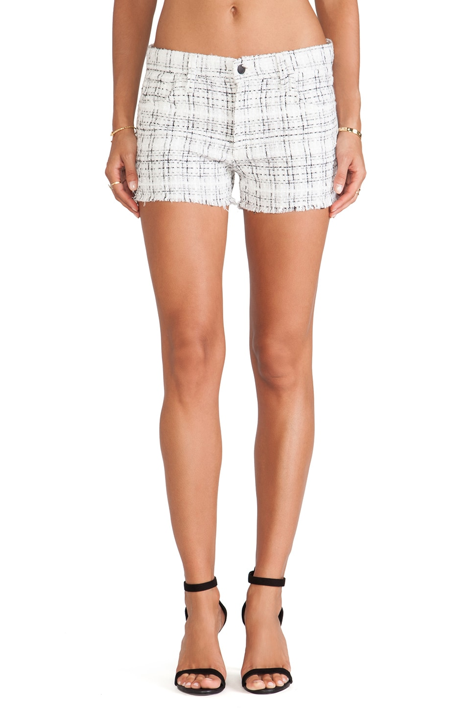 Joe's Jeans Tweed Easy Cut Off Short in Sand Dollar