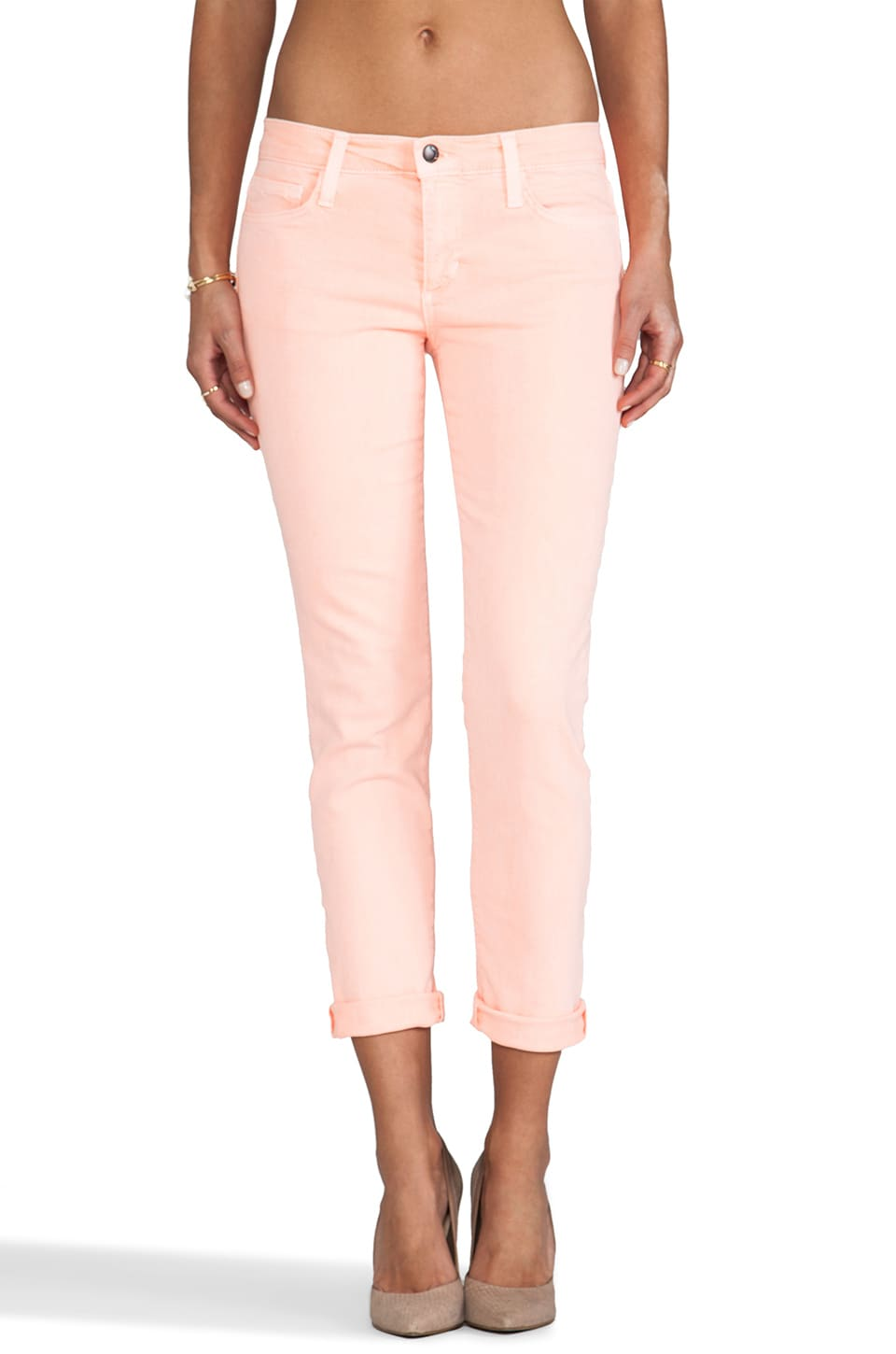 Joe's Jeans Straight Ankle in Coral Mist