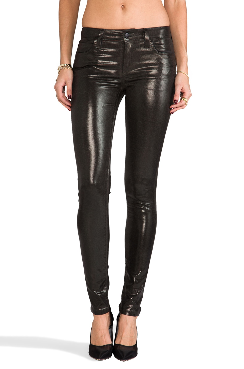 Joe's Jeans The Skinny in Metallic Black