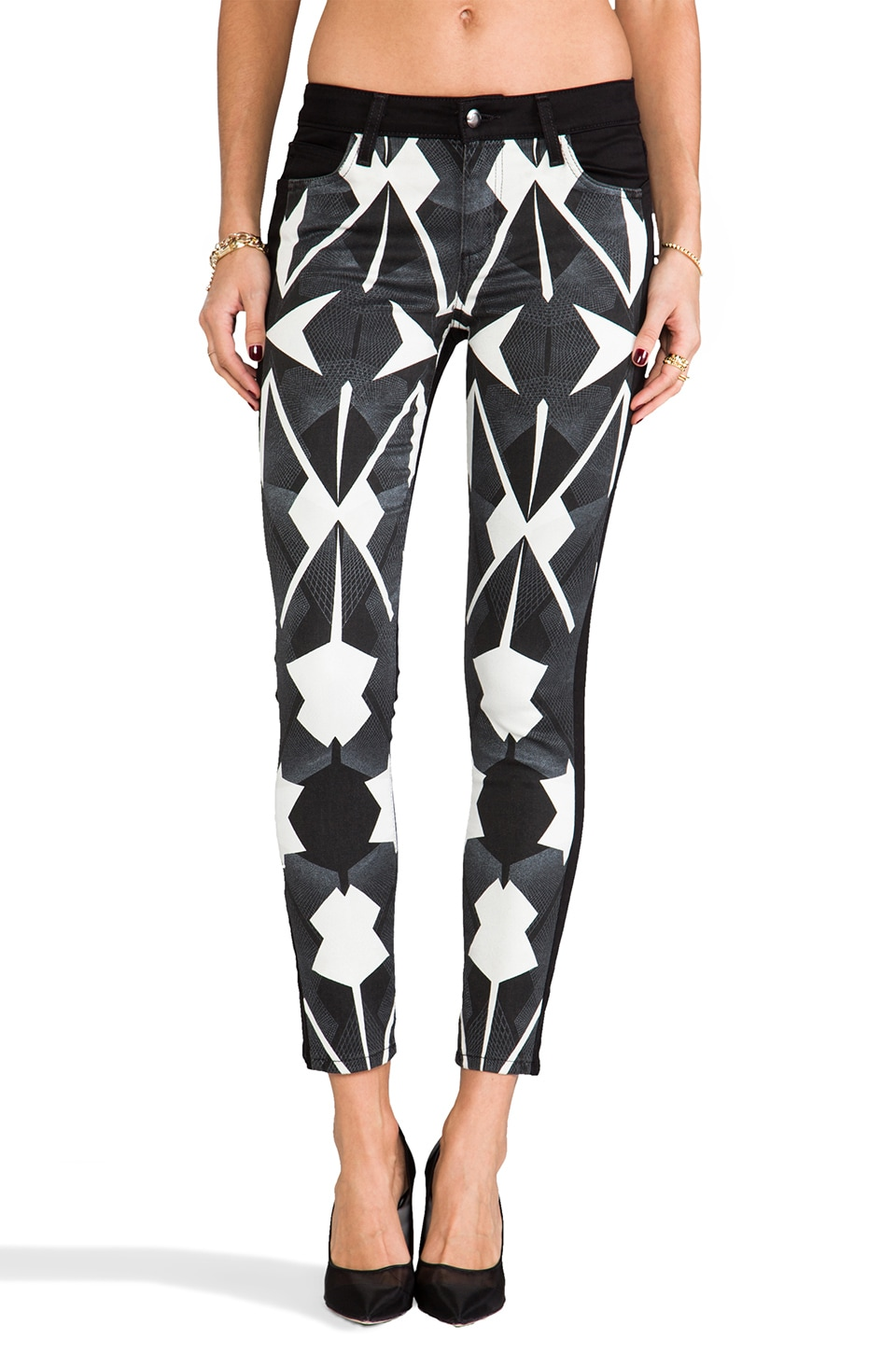 Joe's Jeans Contrast Tux Ankle Skinny in Matrix Print