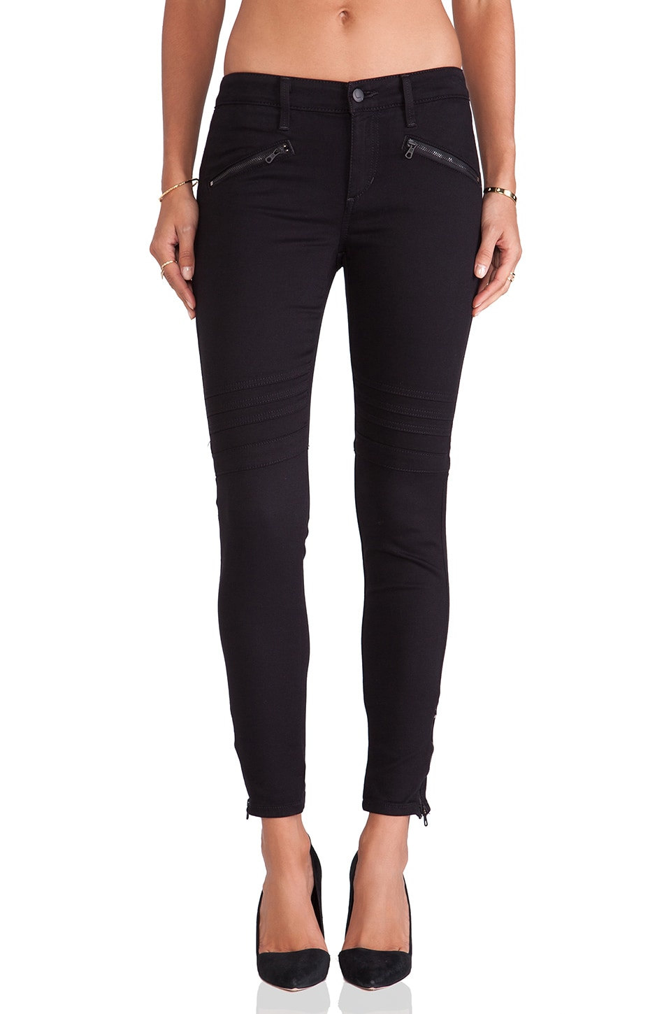Joe's Jeans Chevron Ankle Legging in Jet Black