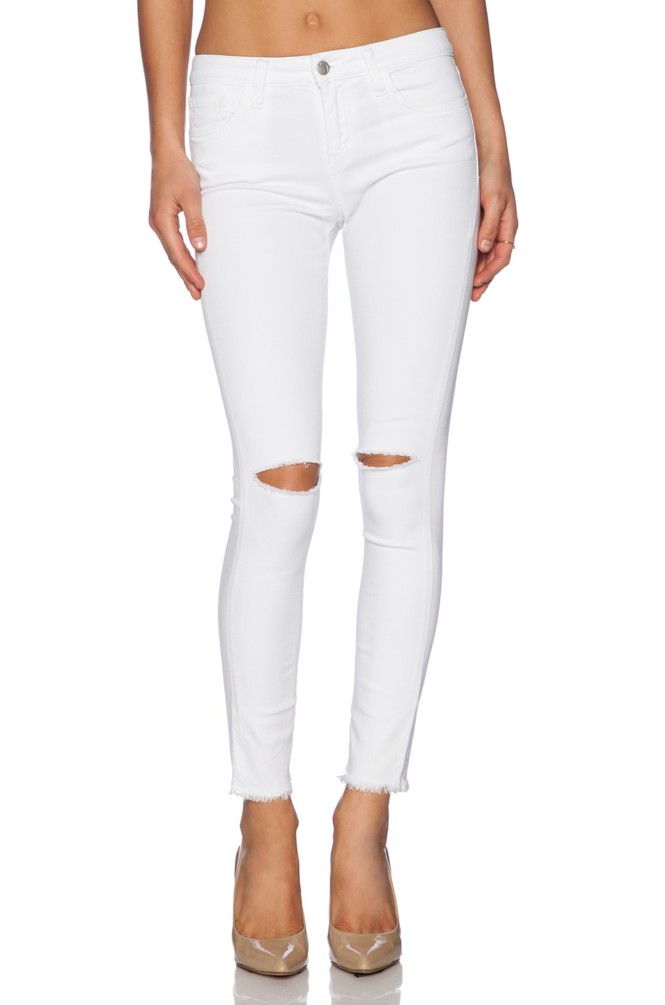 Joe's Jeans Stay Spotless Finn Skinny Ankle in Optic White | REVOLVE