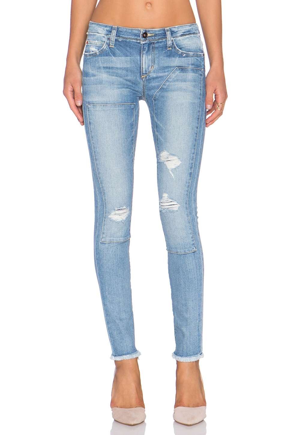 Joe's Jeans Finn Repaired Ankle Skinny in Yuki