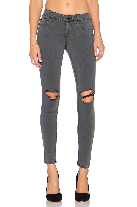 Joe's Jeans Adie Flawless The Vixen Ankle Skinny in Faded Black Distressed