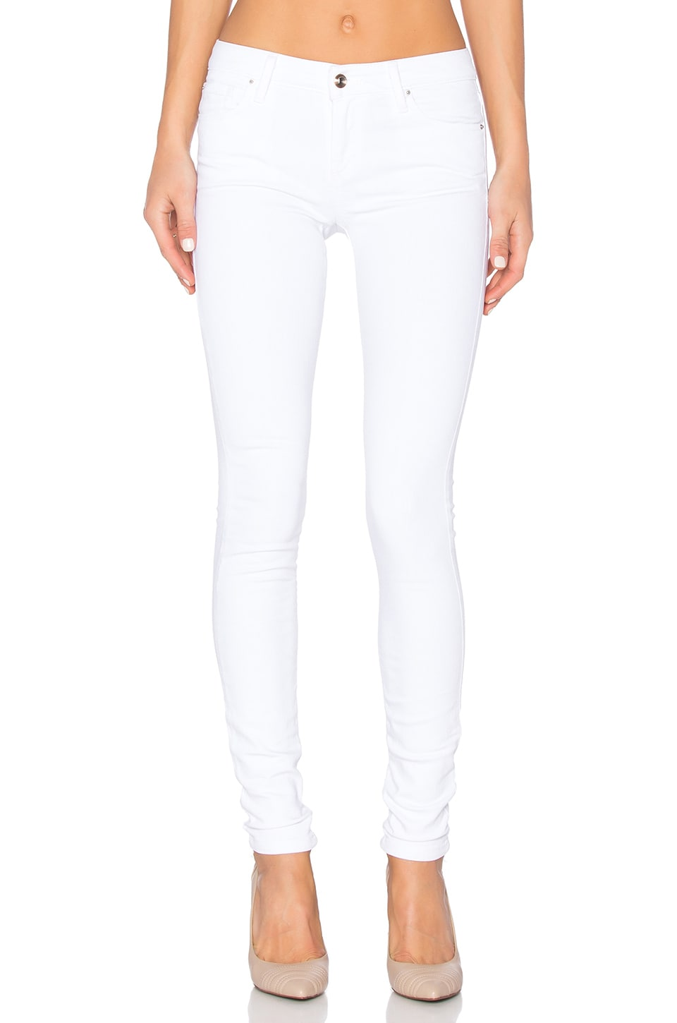 Joe's Jeans Marlie Play Dirty Stay Spotless The Vixen Skinny in Optic White