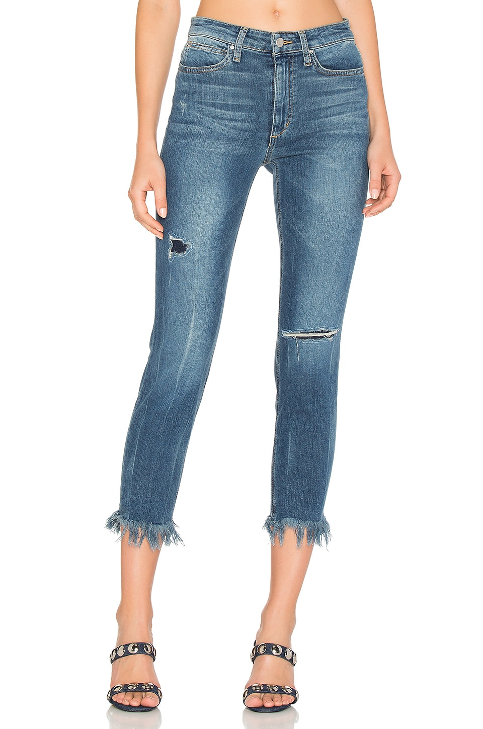 The Charlie High Rise Fray Hem Crop by Joe's Jeans