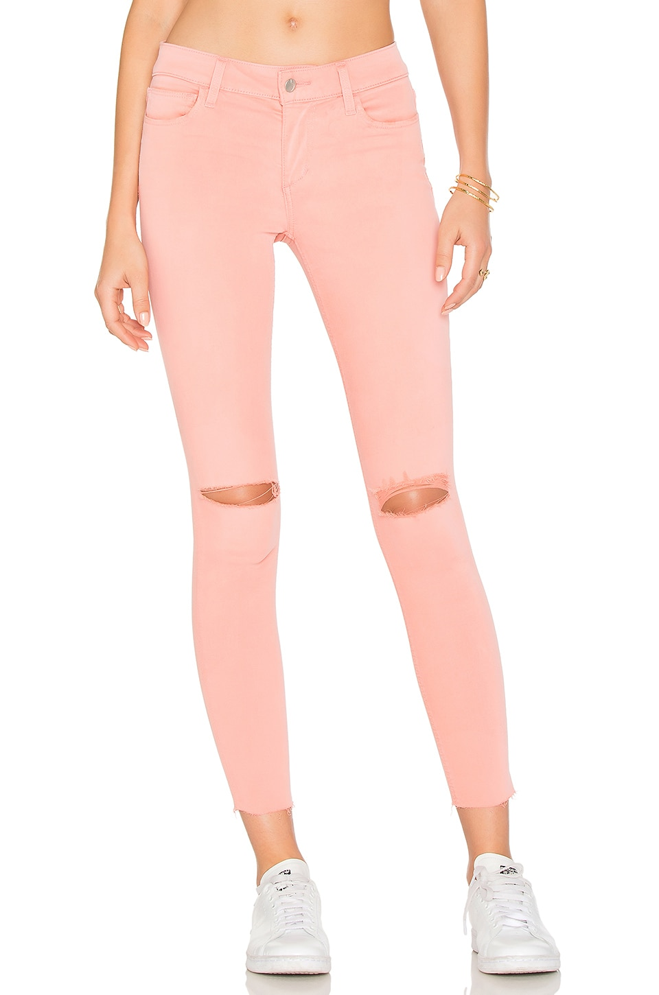 Joe's Jeans The Icon Mid Rise Super Skinny in Coral