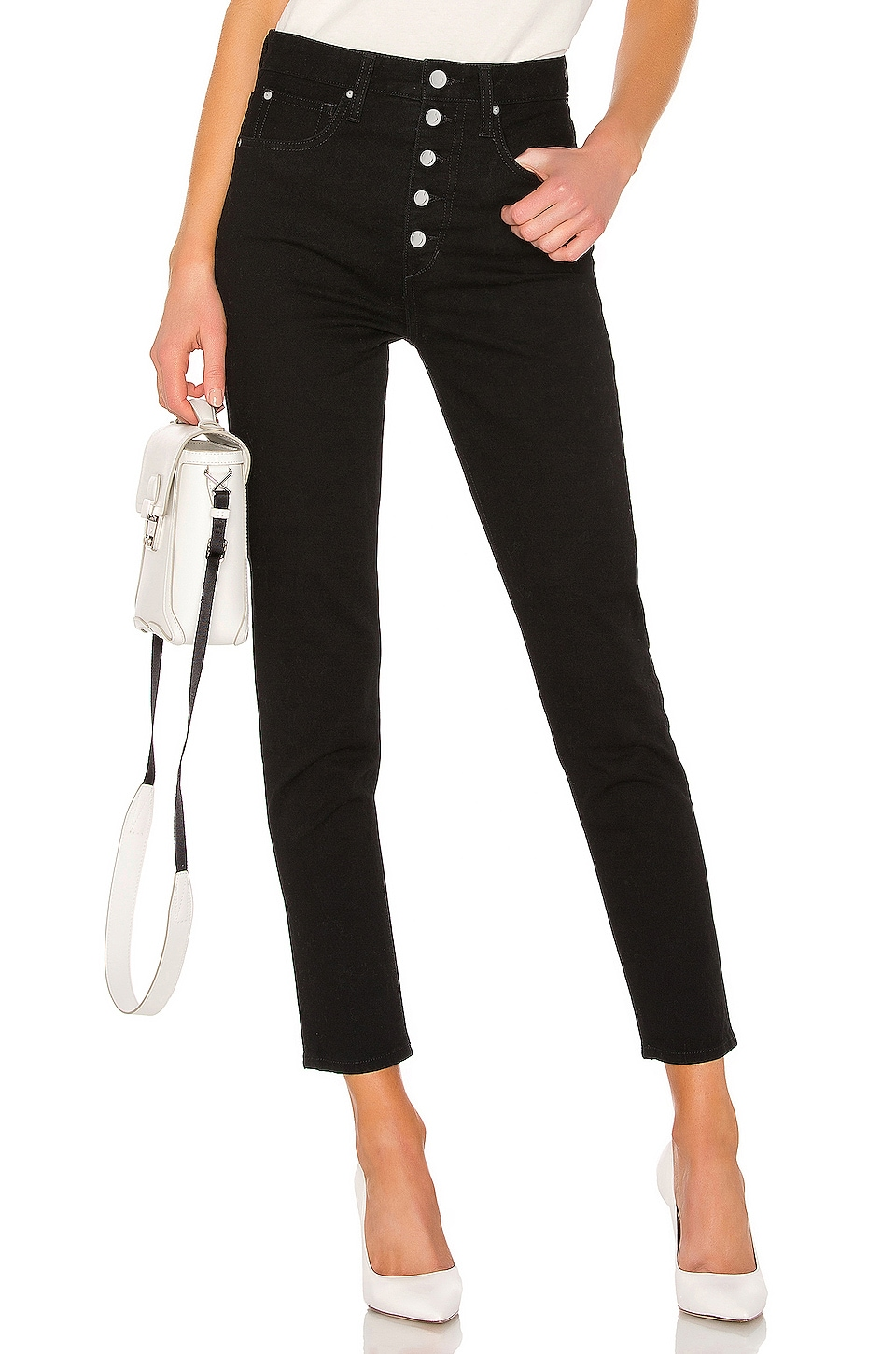 Joe's Jeans The Danielle High Rise Vintage in Black