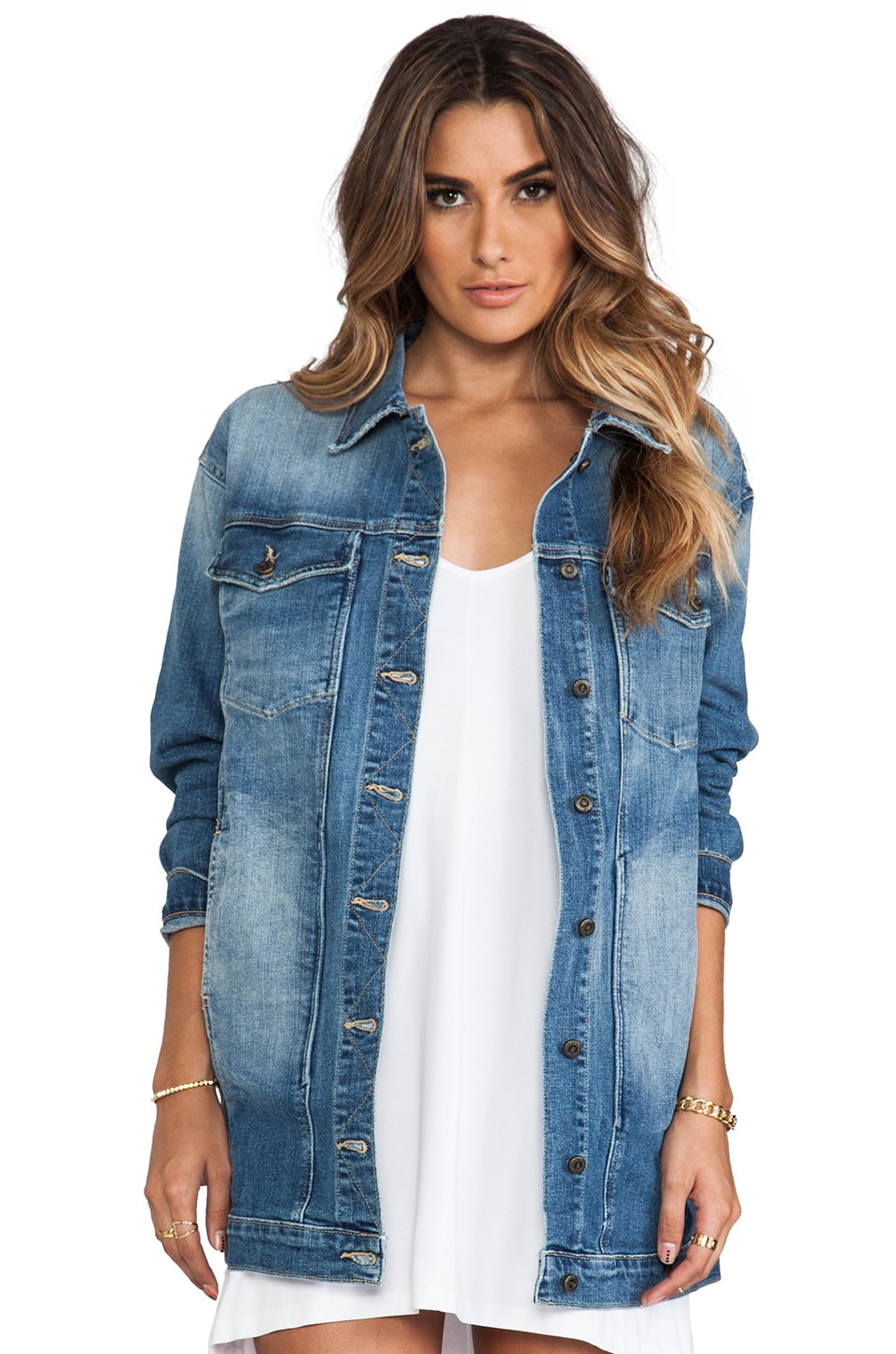 Joe's Jeans Dress Denim Jacket in Jaide