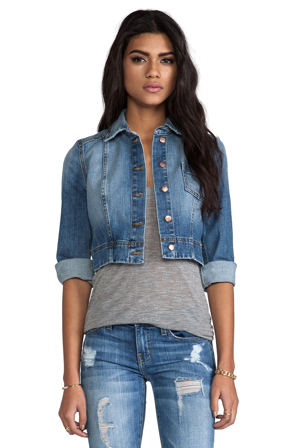 Joe's Jeans Denim Cardi in Cooper