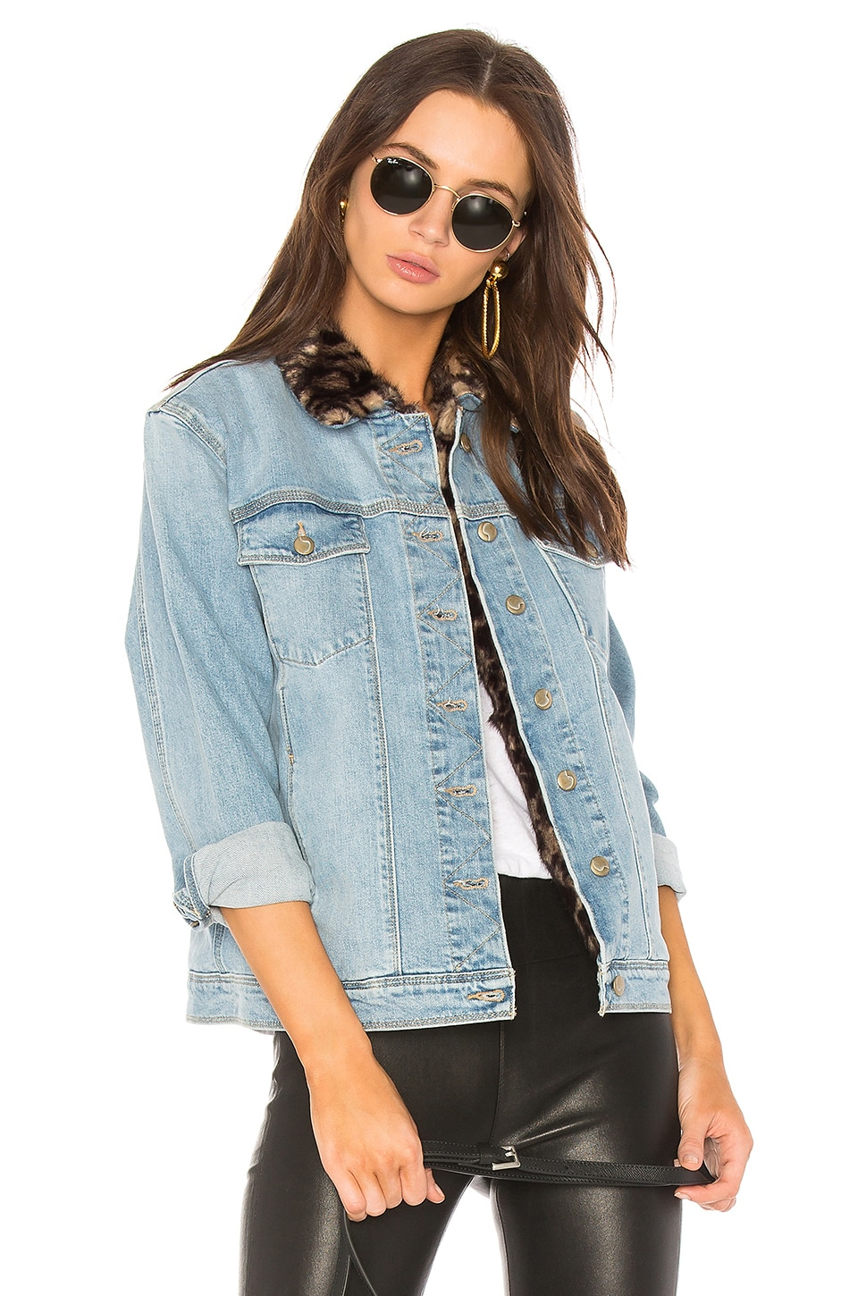Joe's Jeans The Boyfriend Jacket with Faux Fur Collar in Kamryn