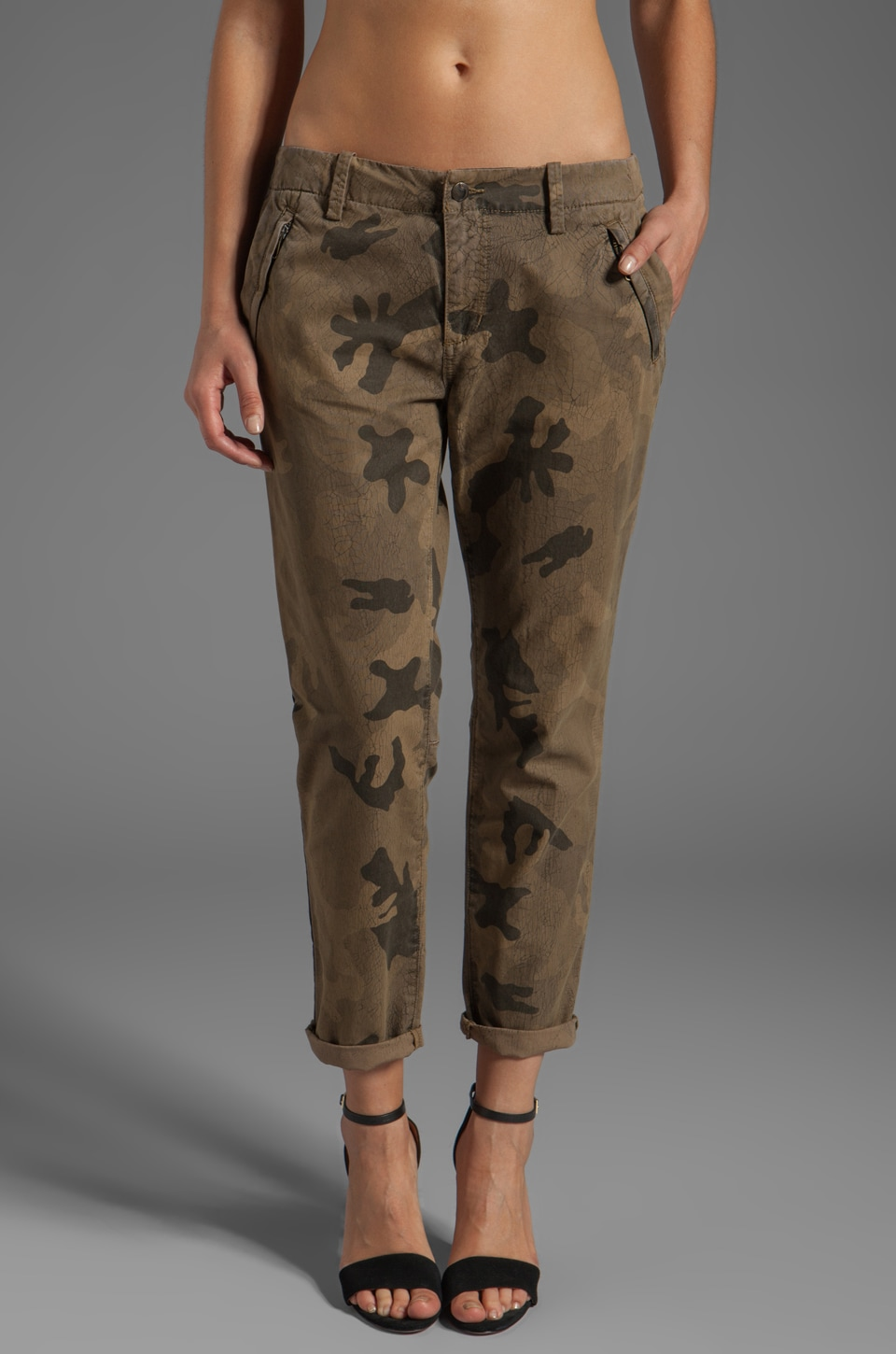 Joe's Jeans Straight Ankle Camo Trouser in Dayna