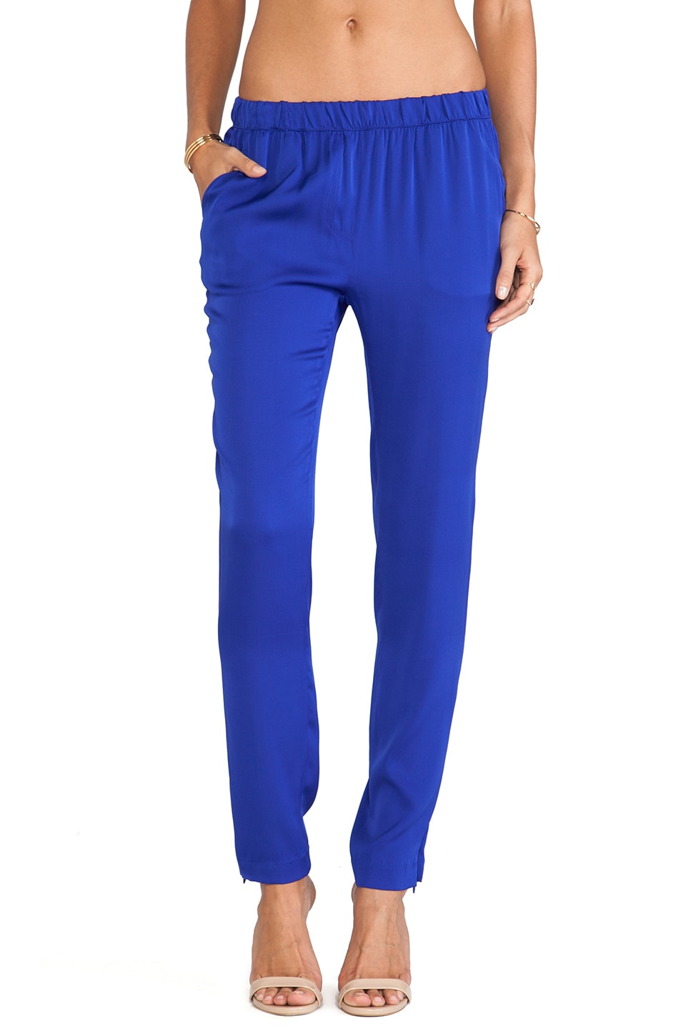 Joe's Jeans Vivian Silk Pants in Royal Blue