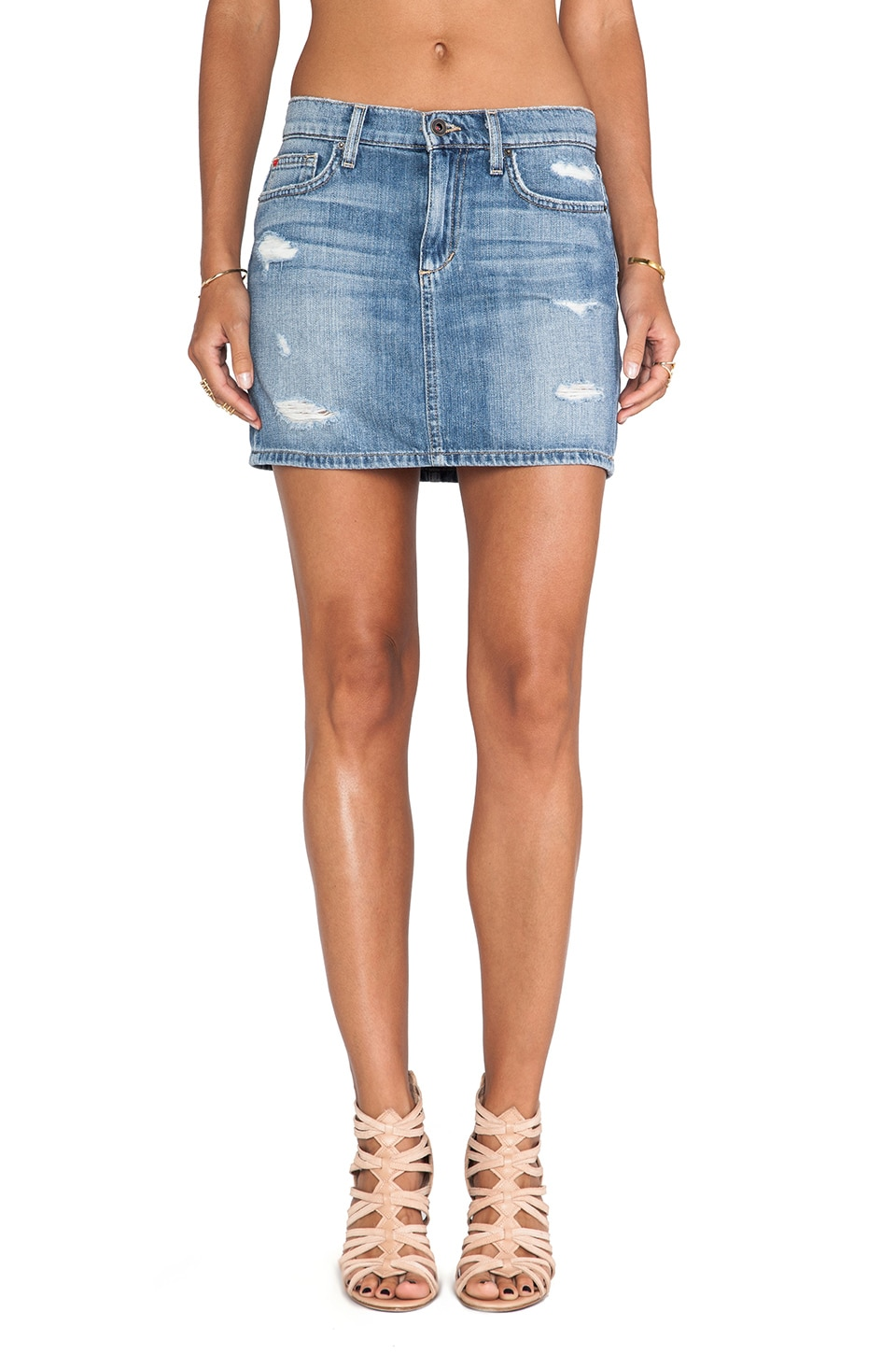 Joe's Jeans High Rise Mini Skirt in Miyako
