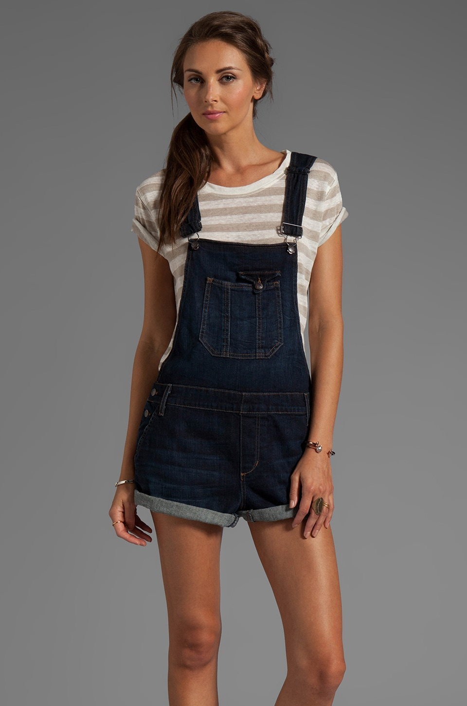Joe's Jeans Short Overalls in Julisa