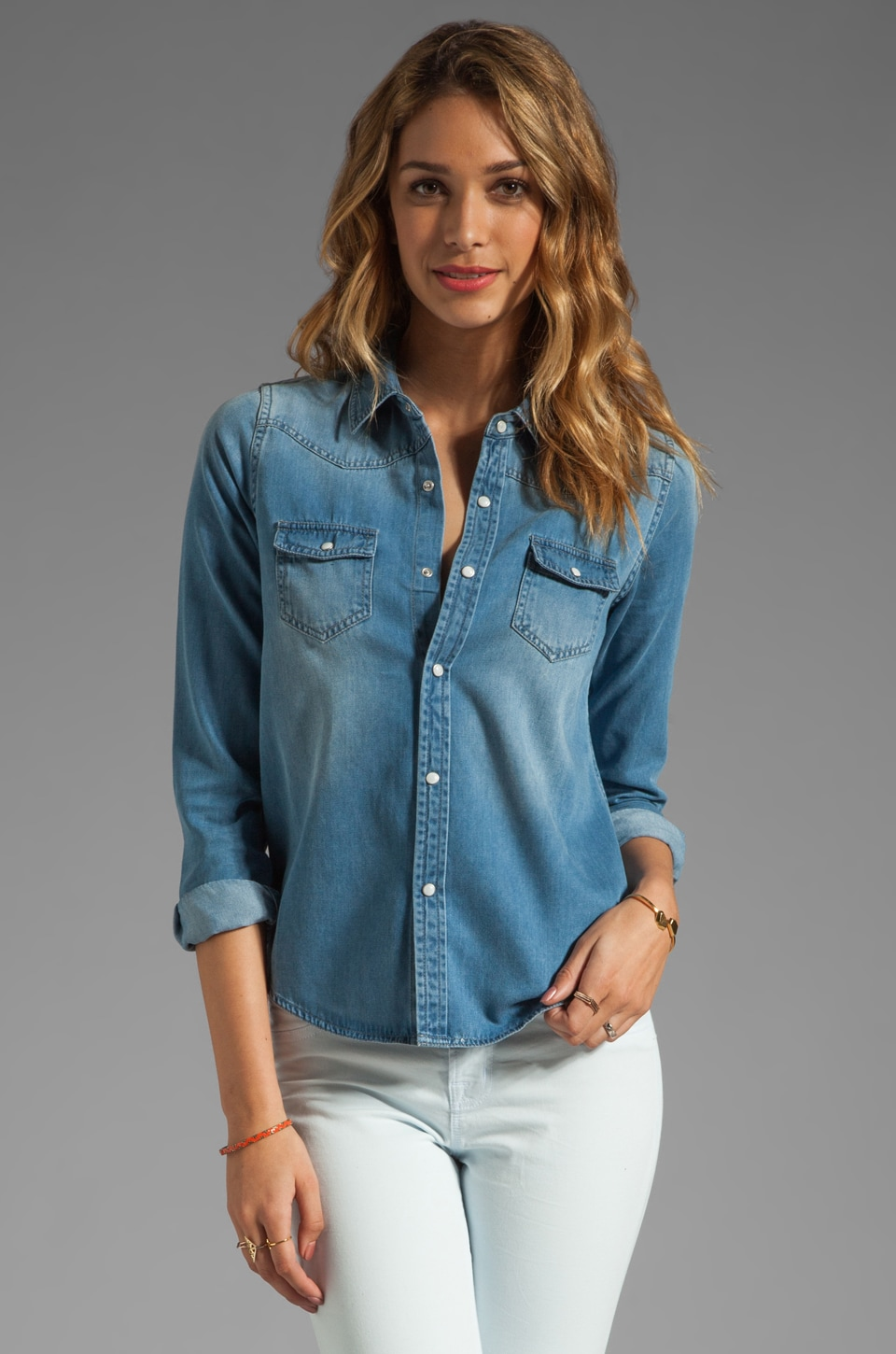 Joe's Jeans Western Denim Shirt in Amy