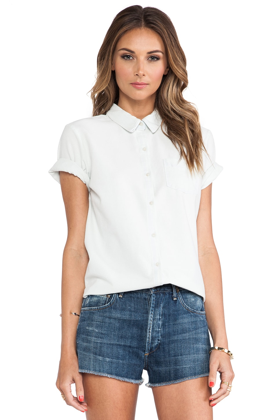 Joe's Jeans Button Down Shirt in Cassie