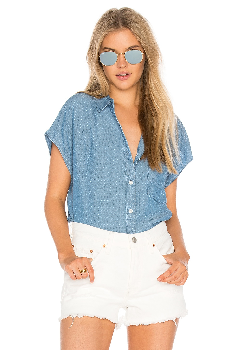 Alexandria Short Sleeve Button Up by Joe'S Jeans