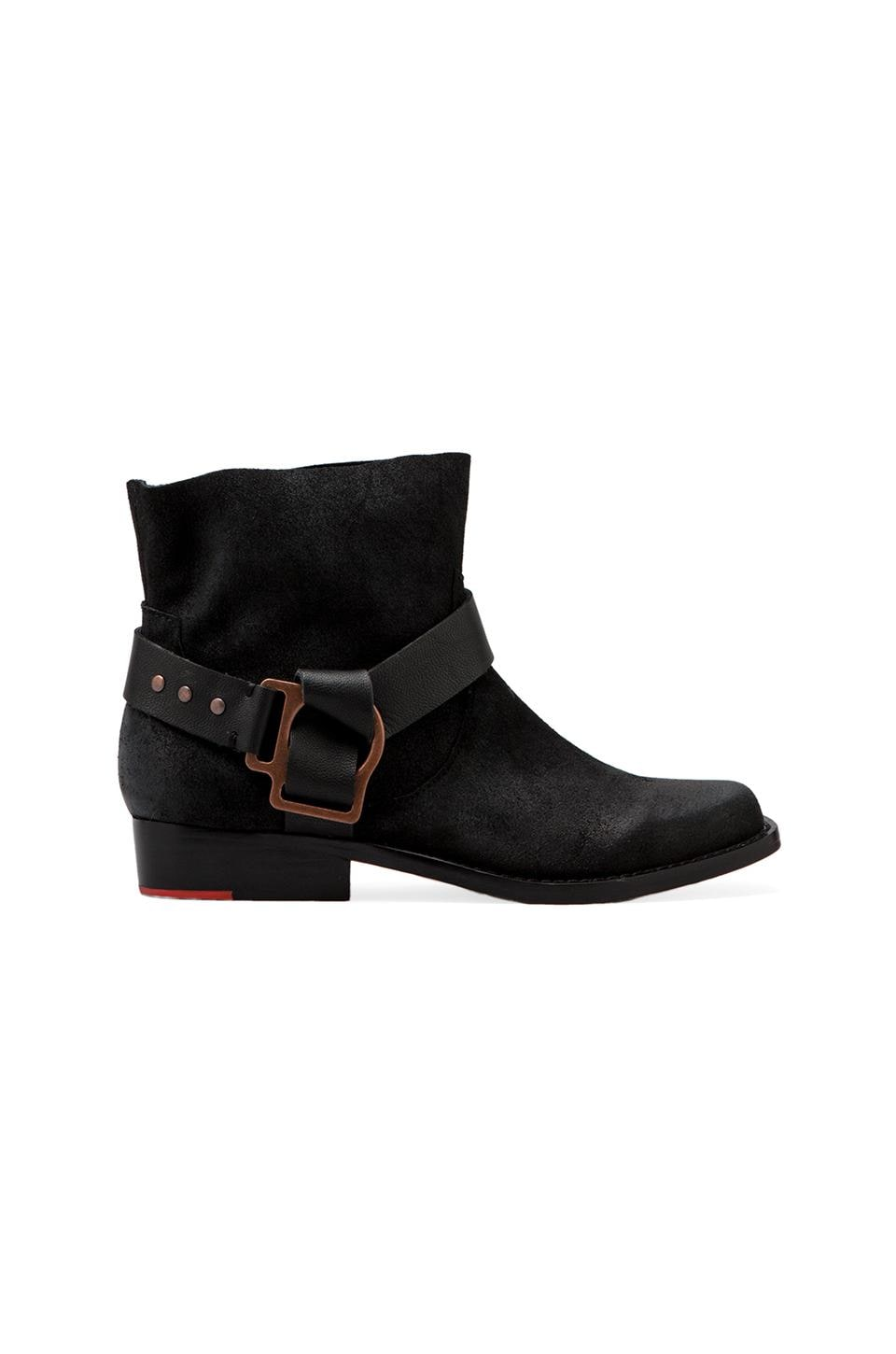Joe's Jeans Saki Bootie with a Buckle in Black