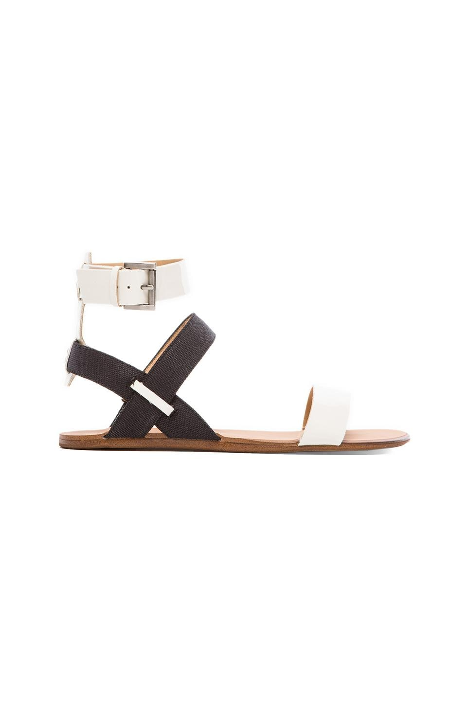 Joe's Jeans Eryn Sandal in Bone/Black