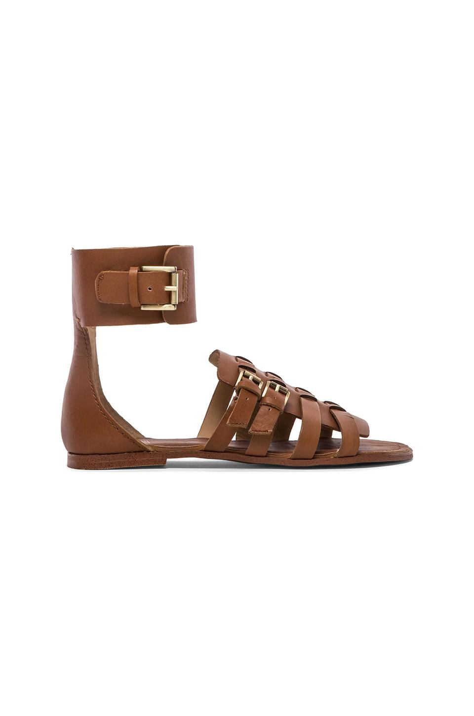 Joe's Jeans Marlin Sandal in Dark Tan
