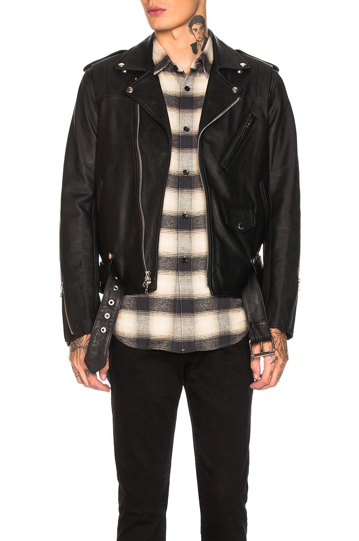 JOHN ELLIOTT Blackmeans Rider's Jacket in Black