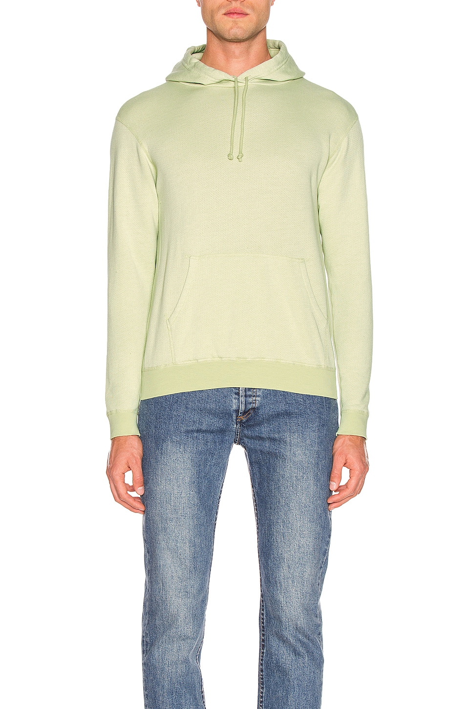 JOHN ELLIOTT Vintage Fleece Hoodie in Mint Green