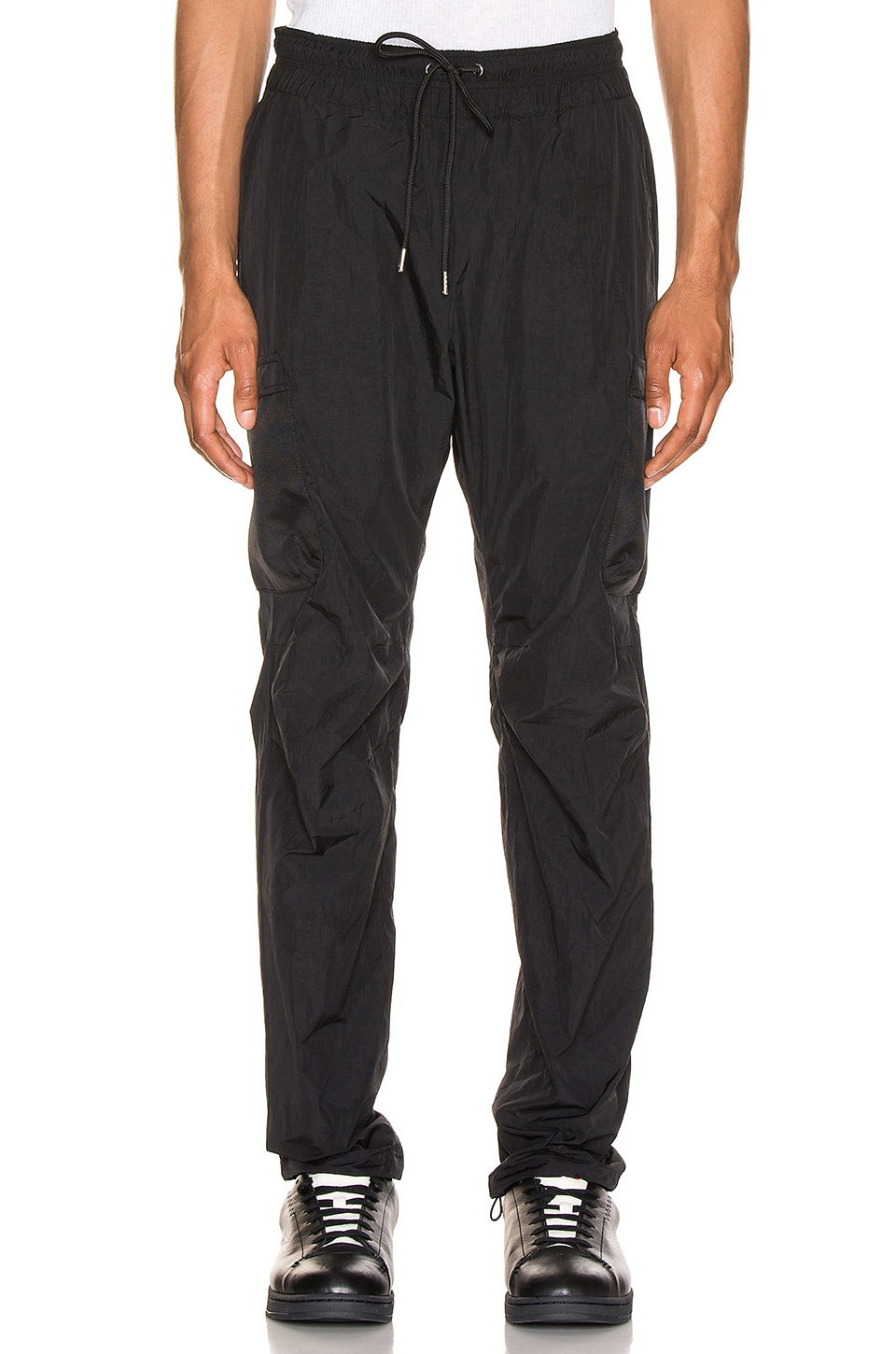 JOHN ELLIOTT Nylon Cargo Pants in Black