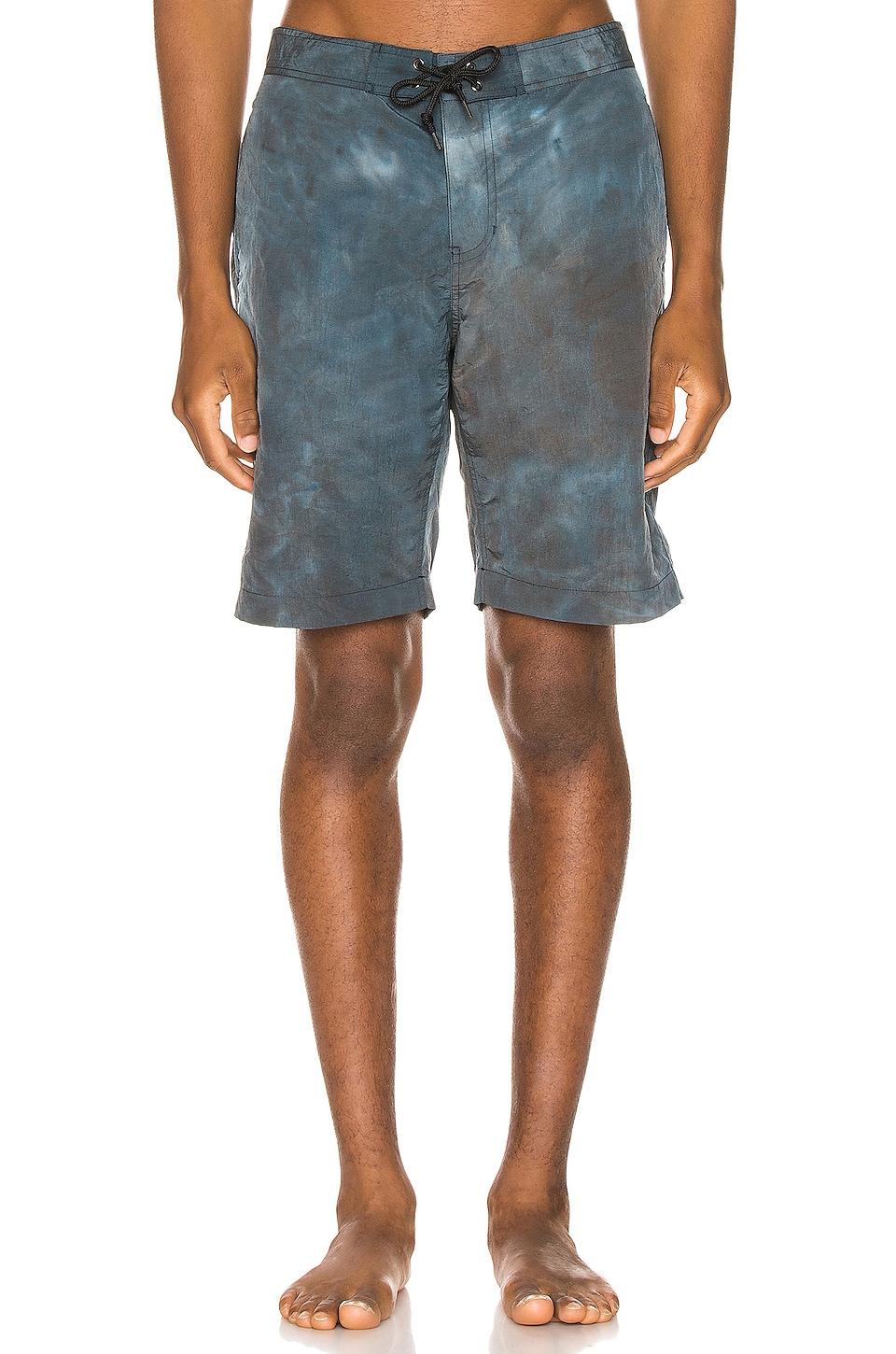 JOHN ELLIOTT Solar Board Shorts in Teal Tie Dye